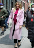 Hilary Duff is all smiles while filming for 'Younger' in Manhattan, New York City