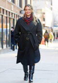 Hilary Duff looks stylish in all-black while spotted on the set of 'Younger' in SoHo, New York City