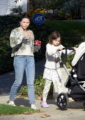 Jenna Dewan goes for a leisurely stroll with her kids in Los Angeles