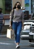 Jordana Brewster picks up some vitamins while out running errands in Santa Monica, California