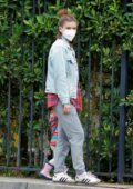 Kate Mara and Jamie Bell step out to enjoy the day with their daughter at Griffith Park in Los Feliz, California