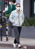 Kate Mara keeps it casual as she goes on a solo coffee run in Los Feliz, California