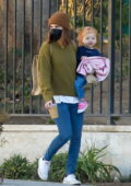 Kate Mara takes her daughter out for a playdate at the park with a friend in Pasadena, California