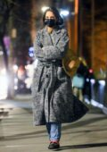 Katie Holmes looks stylish while taking a stroll at night in New York City