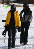 Kendall and Kylie Jenner spotted walking down the Panda Express section of Buttermilk Ski Area in Aspen, Colorado