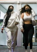 Kylie Jenner and Anastasia Karanikolaou seen leaving a skincare clinic in Beverly Hills, California