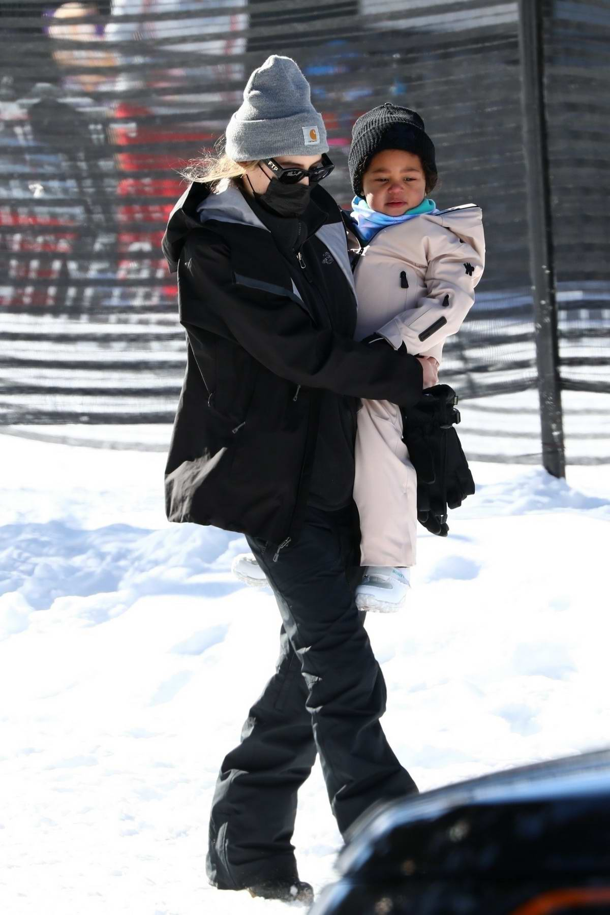 Kylie Jenner and Travis Scott spent the first day of 2021 hitting the bunny slopes with little Stormi in Aspen, Colorado