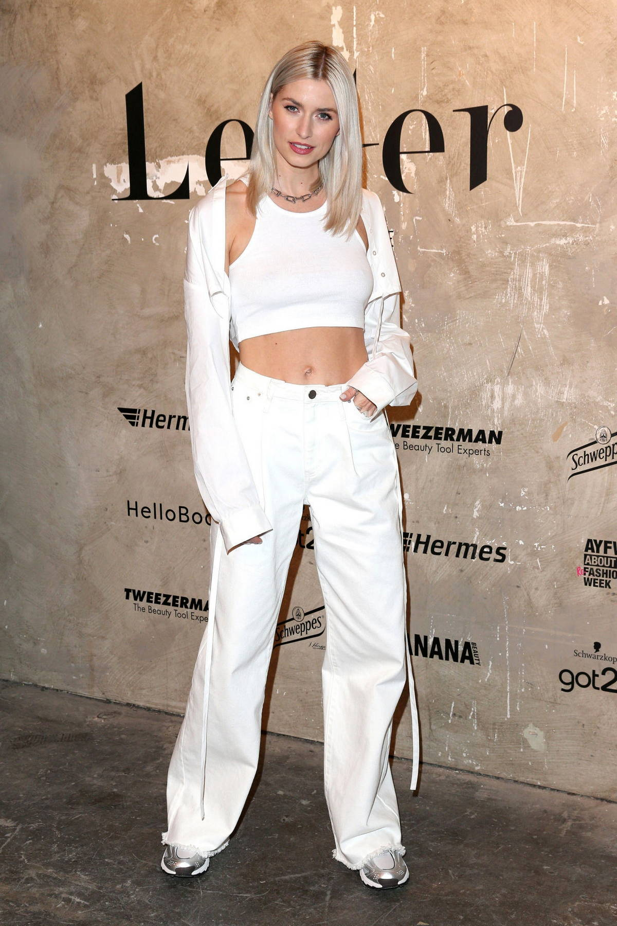 Lena Gercke attends the LeGer Fashion Show in Berlin, Germany