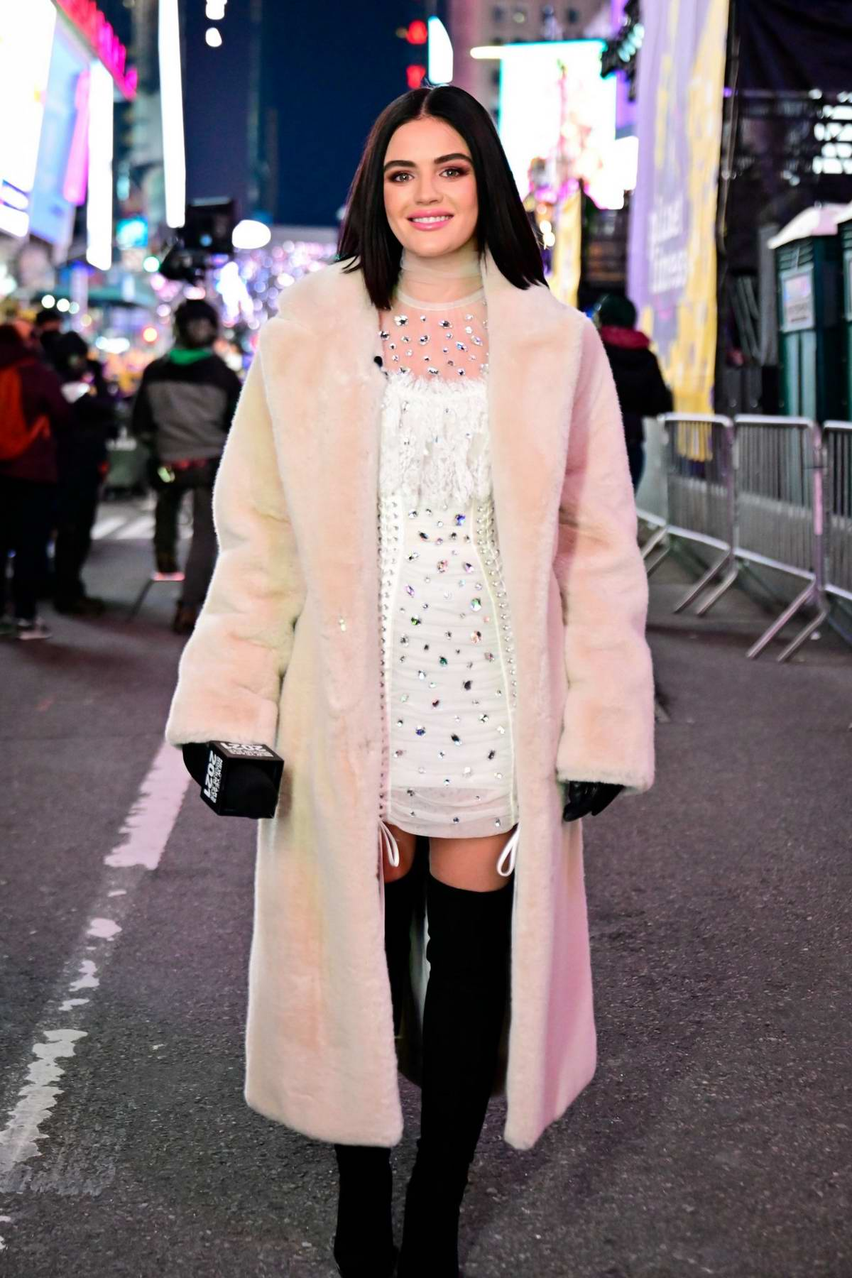 Lucy Hale hosts the Dick Clark's New Year's Rockin' Eve in Times Square, New York City