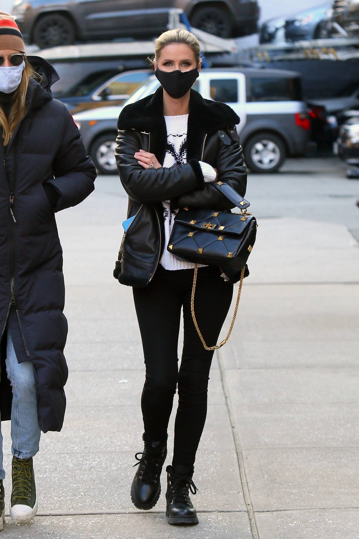 Nicky Hilton looks fashionable wearing a 'Playboy' sweater while out in Manhattan's Soho Area, New York