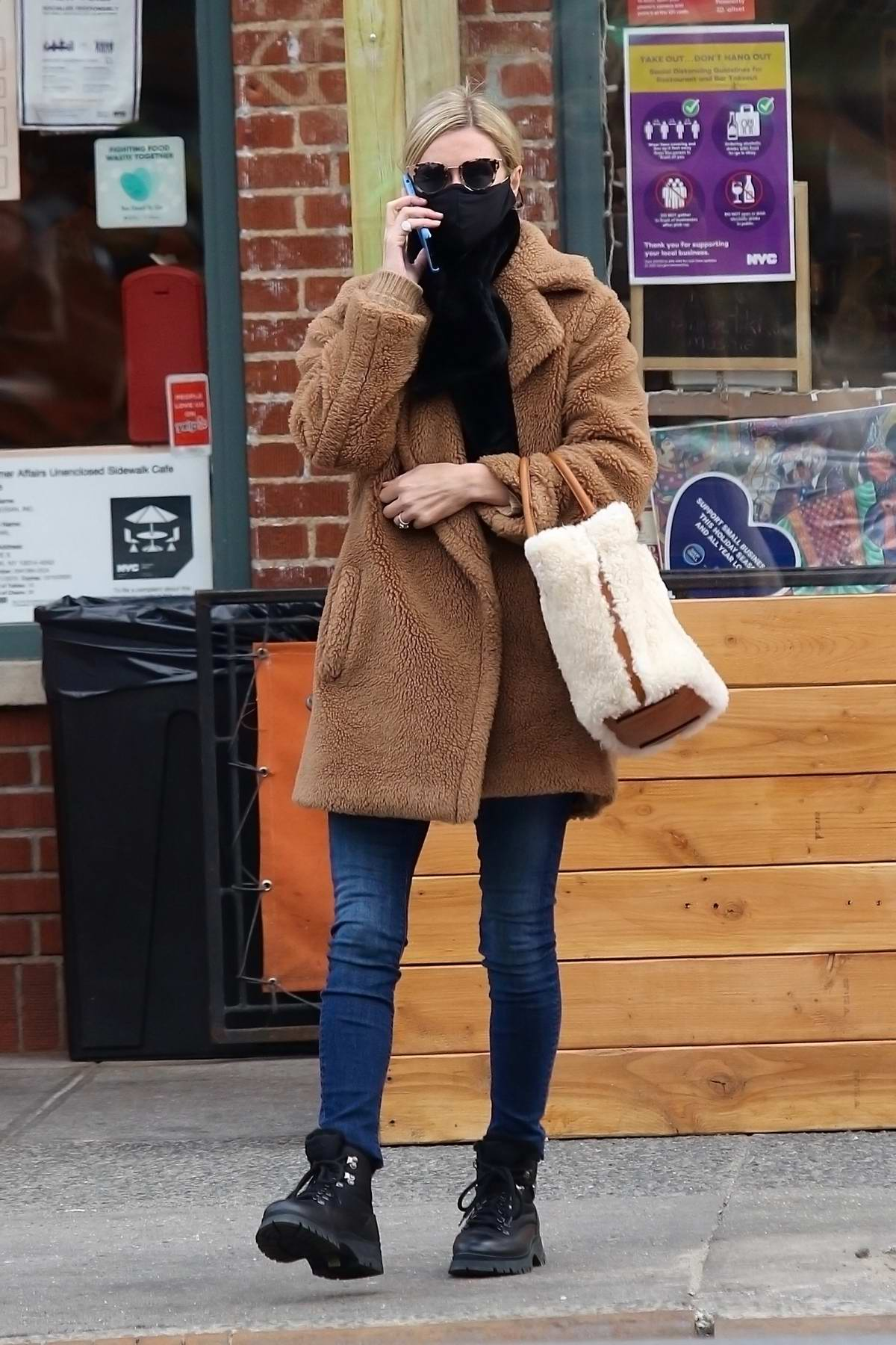 Nicky Hilton looks stylish and bundled up while shopping in Manhattan's West Village area in New York City