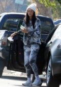 Nina Dobrev steps out in a tie-dye sweatsuit to grab lunch in Los Angeles