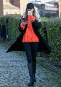 Olivia Attwood steps out for an early afternoon walk in Castlefield in Manchester, UK