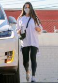 Olivia Munn spotted in a white sweatshirt and black leggings as she leaves the gym after her workout in Los Angeles