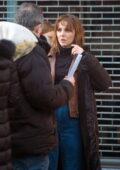 Ophelia Lovibond seen filming scenes for her new series 'Princess' in Belsize Park in London, UK