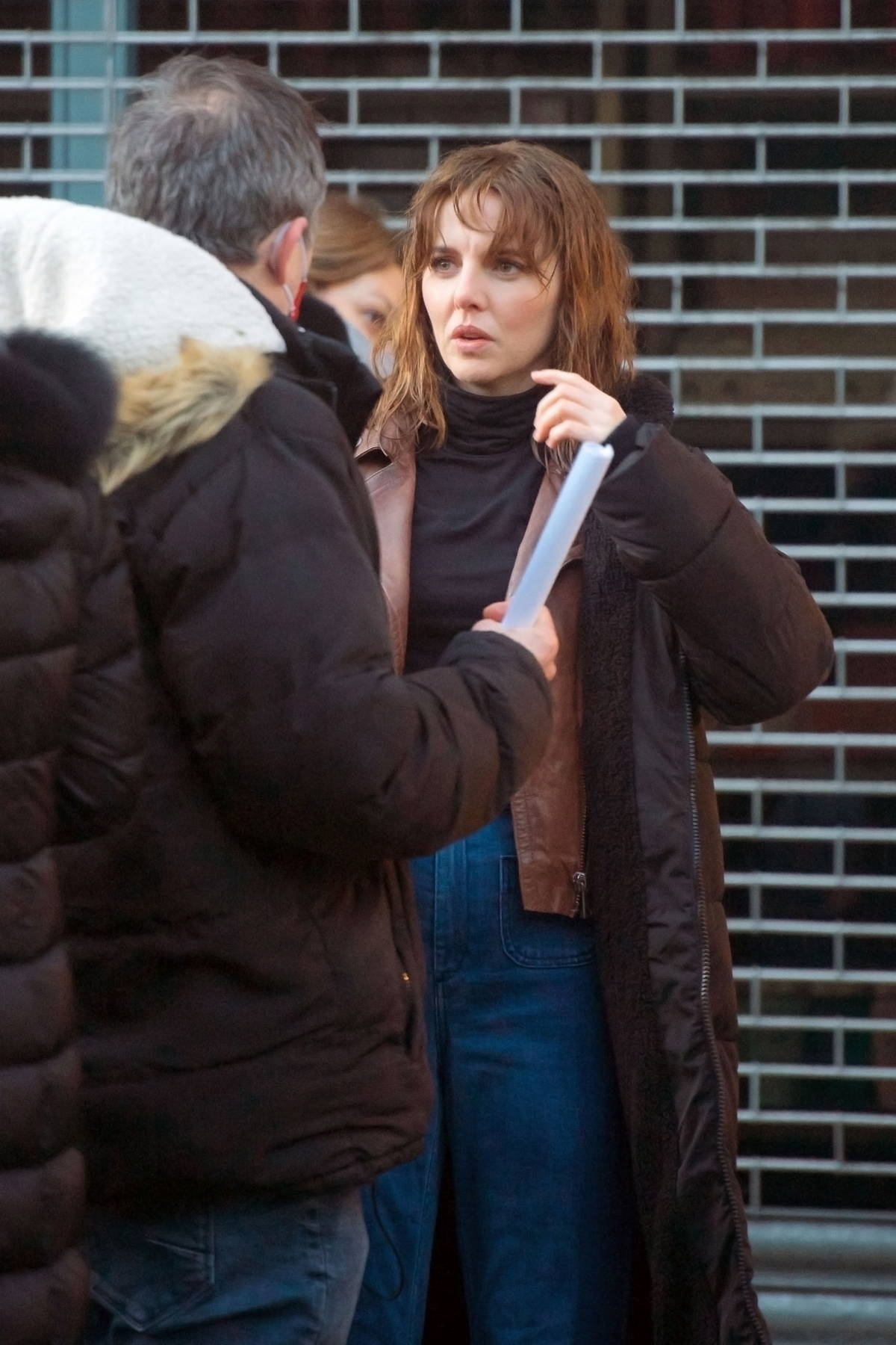 Ophelia Lovibond seen filming scenes for her new series 'Princess' in Belsize Park in London, UK