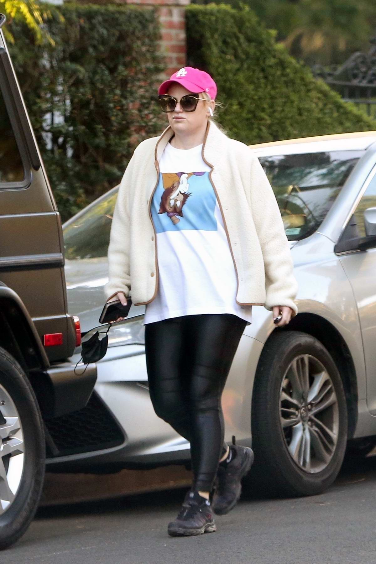 Rebel Wilson gets her workout done with a solo hiking session in Los Feliz, California