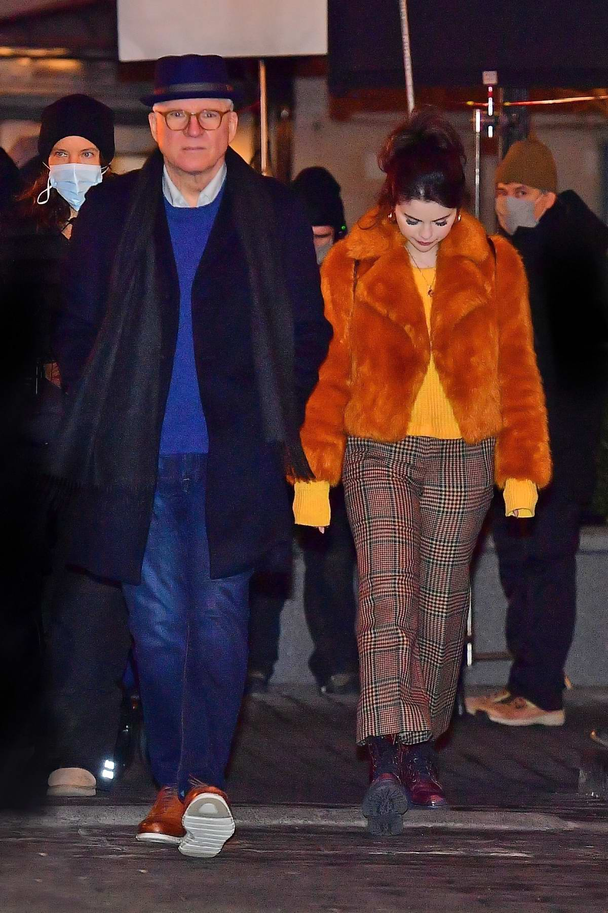 Selena Gomez and Steve Martin seen on the set of 'Only Murders in the Building' in New York City