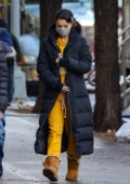 Selena Gomez arrives on the set of 'Only Murders in the Building' wearing a black puffer jacket in New York City