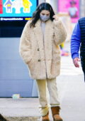 Selena Gomez bundles up while heading to the movie set of 'Only Murders' in New York City