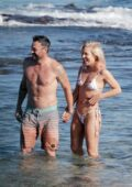 Sharna Burgess spotted in a bikini while packing on some PDA with Brian Austin Green on the beach in Hawaii