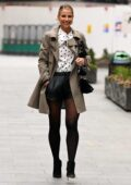 Vogue Williams keeps it stylish as she leaves Global Radio in London, UK