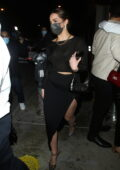 Addison Rae and Bryce Hall pack on the PDA as they leave dinner at Catch LA in West Hollywood, California