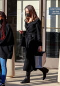 Angelina Jolie looks classy as ever while out for some shopping with her daughters in Thousand Oaks, California