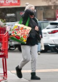 Ariel Winter keeps it cozy in a hooded jacket and sweatpants for a grocery run in Studio City, California