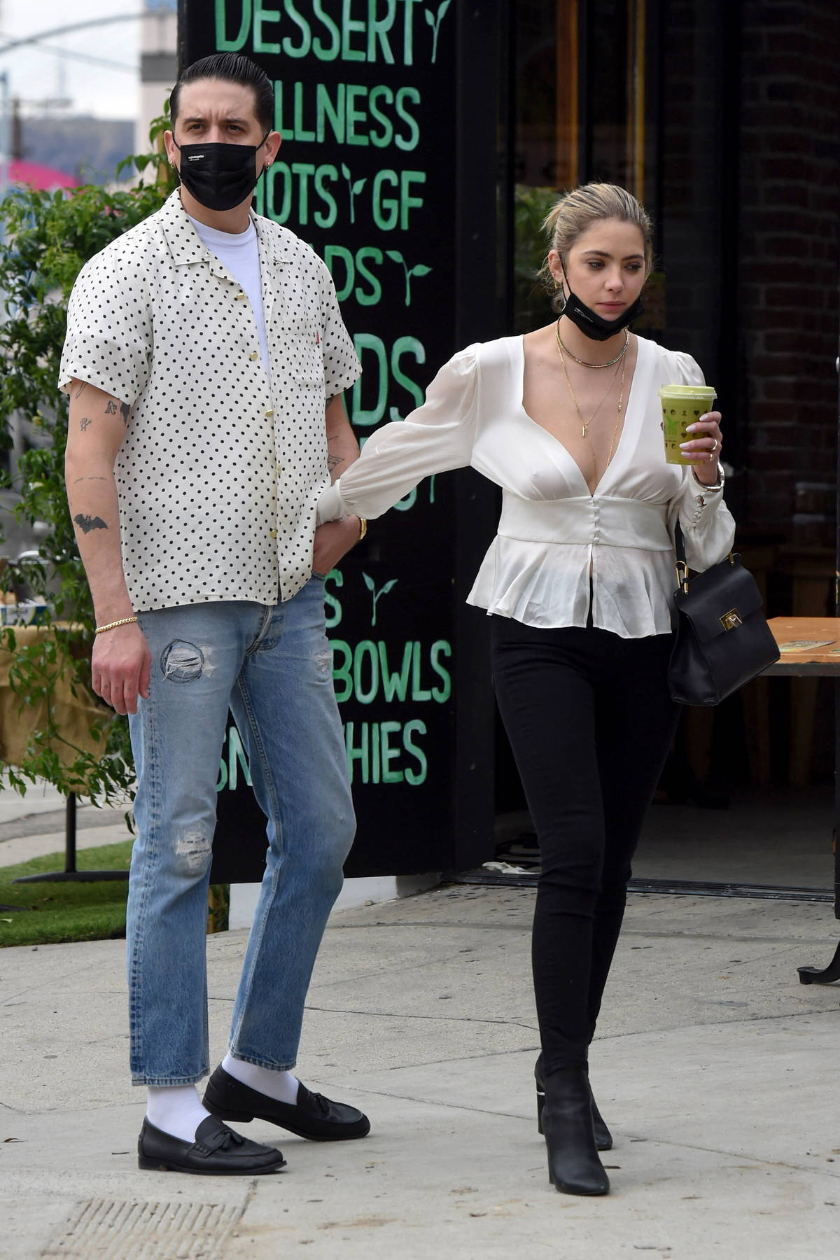 Ashley Benson and G-Eazy pack on some PDA during a shopping trip in Los Angeles