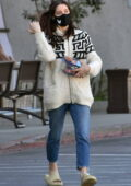 Ashley Greene sports a casual make-up free look as she steps out to grab some Sushi to-go in Los Angeles