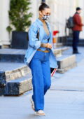 Bella Hadid keeps it trendy in double denim while out running errands in New York City