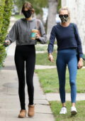 Cara Delevingne meets up with Kaia Gerber for an early morning Pilates class in Los Angeles