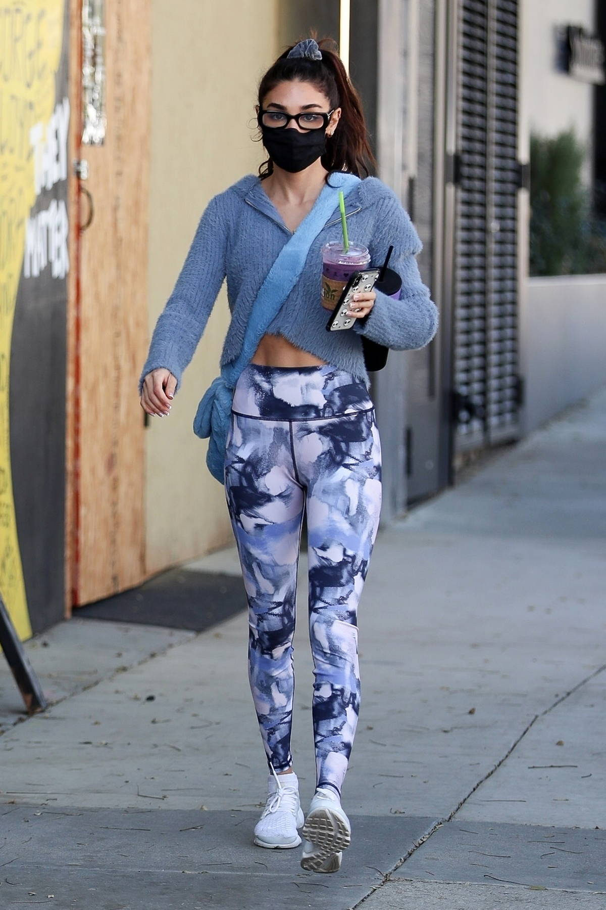 Chantel Jeffries flashes her toned abs as she leaves the Dogpound Gym in West Hollywood, California