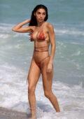 Chantel Jeffries flaunts stunning figure in a bikini while enjoying a beach day with Jocelyn Chew in Miami, Florida