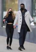 Chrishell Stause and boyfriend Keo Motsepe hold hands while out after getting dinner in West Hollywood, California