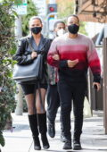 Chrissy Teigen and John Legend enjoy a lunch date at Il pastaio in Beverly Hills, California
