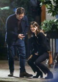 Daisy Edgar-Jones and Sebastian Stan burst into laughter while filming a kissing scene for 'Fresh' in Vancouver, Canada