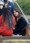 Daisy Edgar-Jones spotted between takes while filming for her new movie 'Fresh' in Vancouver, Canada