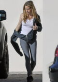 Denise Richards goes make-up free as she steps out to run a few errands in Malibu, California