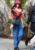 Dua Lipa looks trendy while out with Anwar Hadid for some grocery shopping at Erewhon in Los Angeles