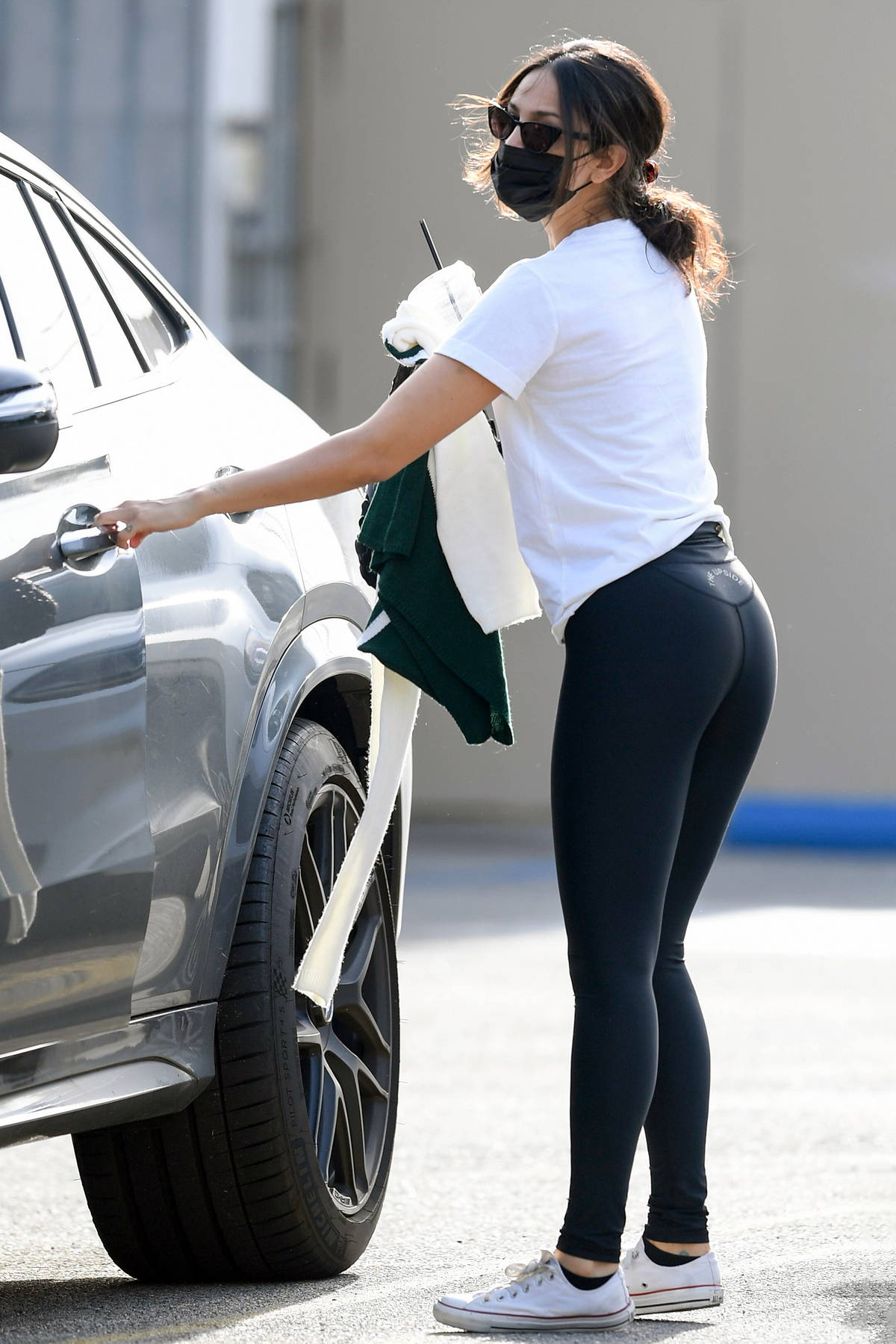 Eiza Gonzalez seen leaving a gym after a grueling workout in Los Angeles