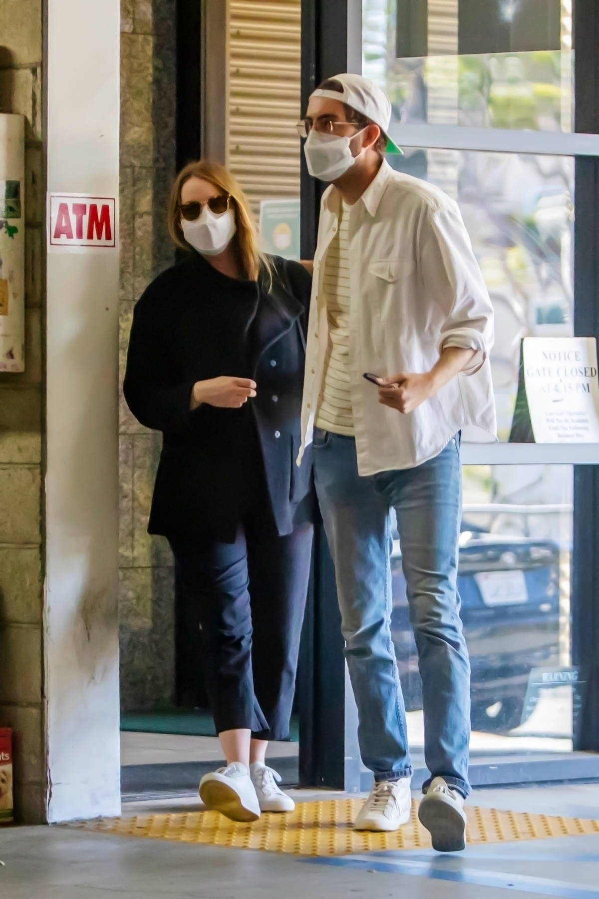 Emma Stone seen leaving a medical building with husband Dave McCary in Los Angeles