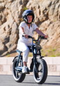 Florence Pugh enjoys a fun electric bike ride with a friend around her neighborhood in Los Angeles