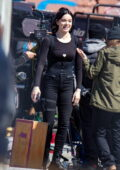 Hailee Steinfeld spotted filming scenes with Jeremy Renner on the set of 'Hawkeye' in New York