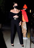 Hailey Bieber and Justin Bieber step out for a romantic date night in their new electric Rolls Royce in Santa Monica, California