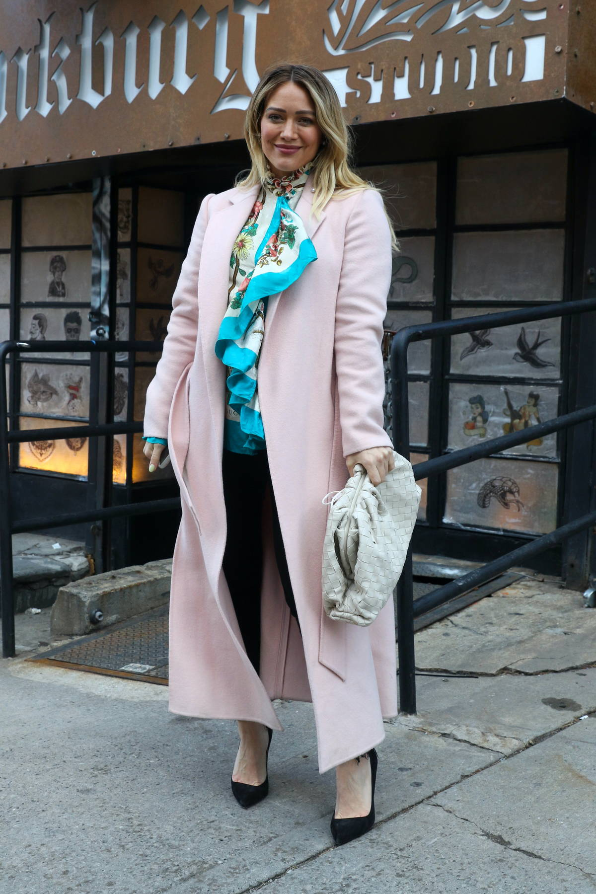 Hilary Duff seen filming the series finale of 'Younger' in Brooklyn, New York