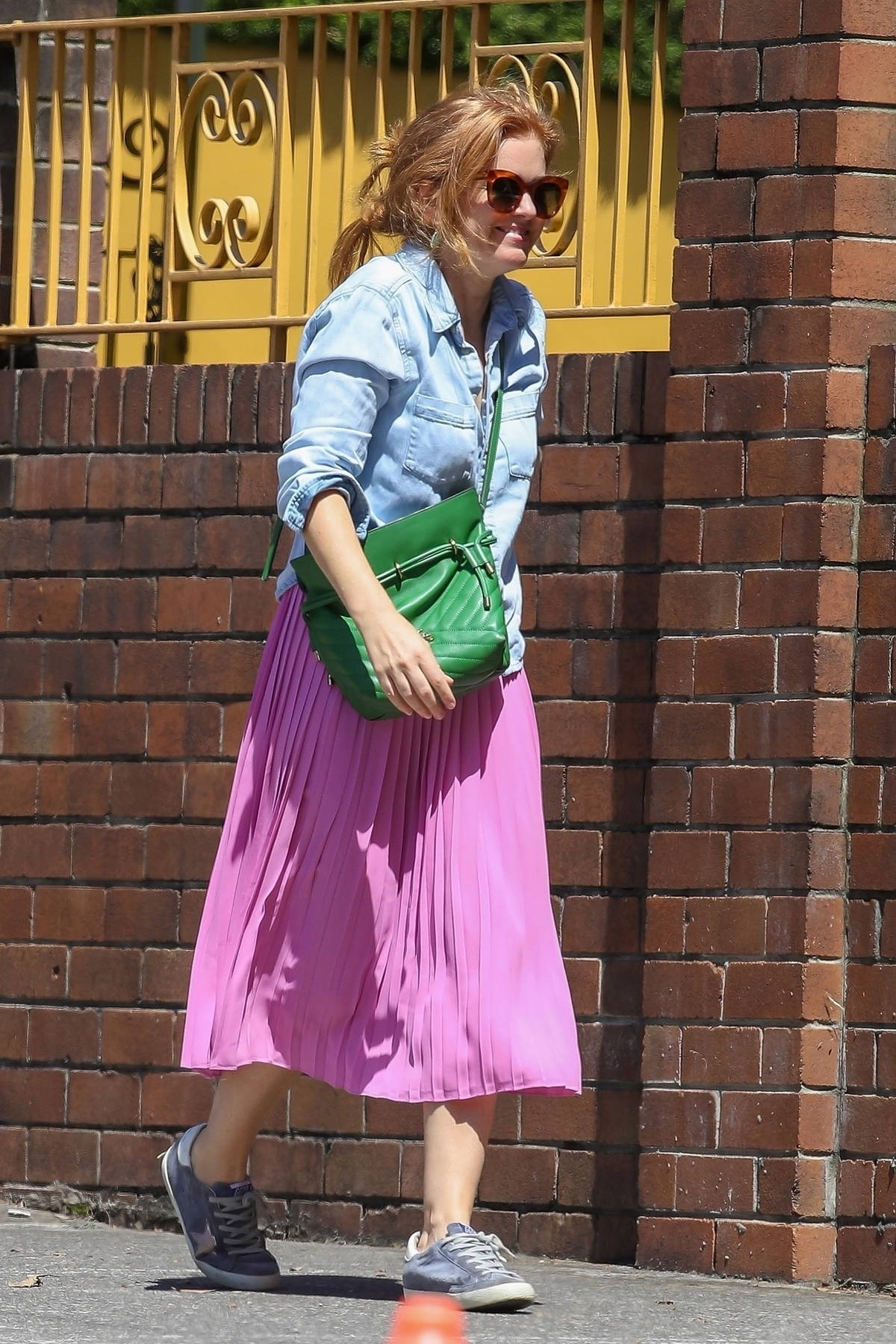 Isla Fisher is all smiles while out on her 45th birthday in Sydney, Australia