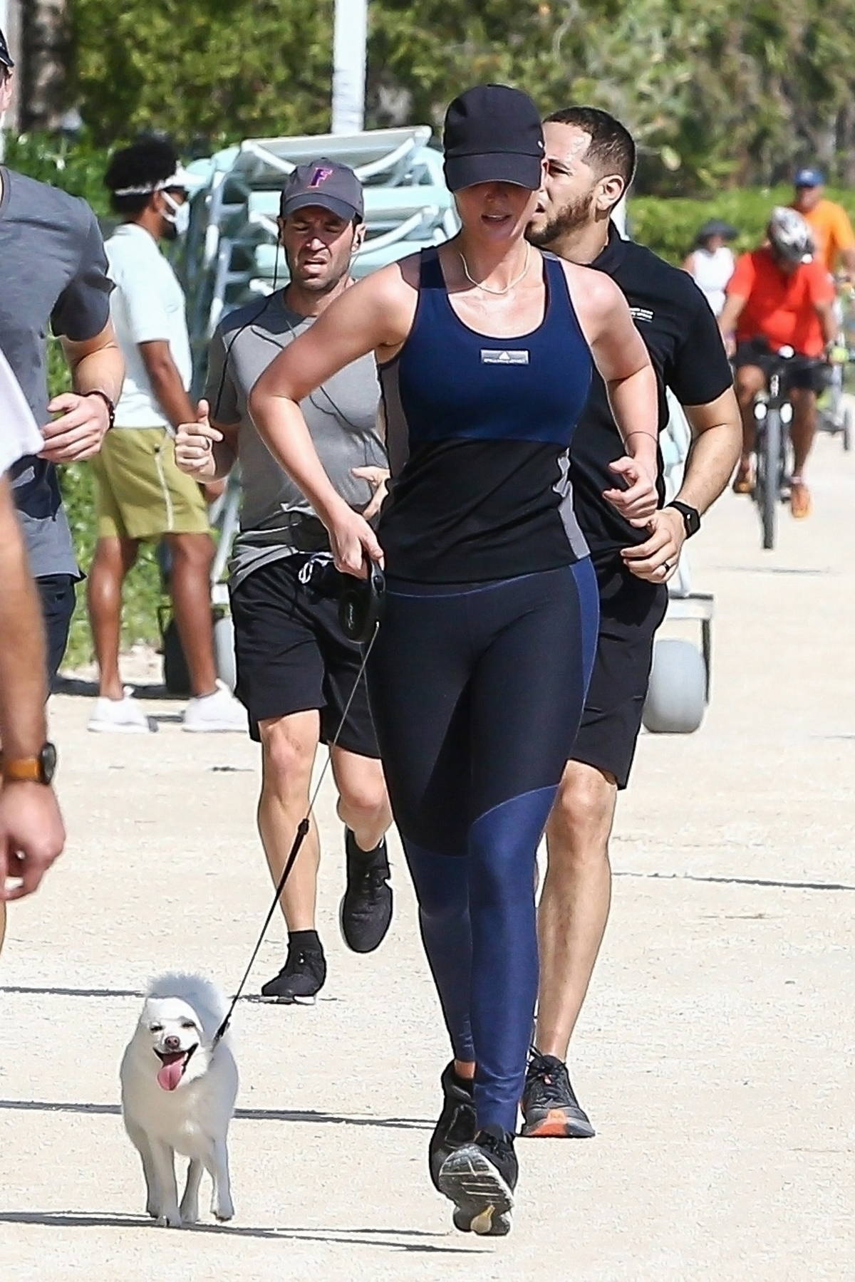 Ivanka Trump looks fit as she goes for an early morning run with Jared Kushner in Miami Beach, Florida