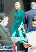 Ivanka Trump looks great in a teal green dress as she takes her kids out for some ice cream in Miami, Florida